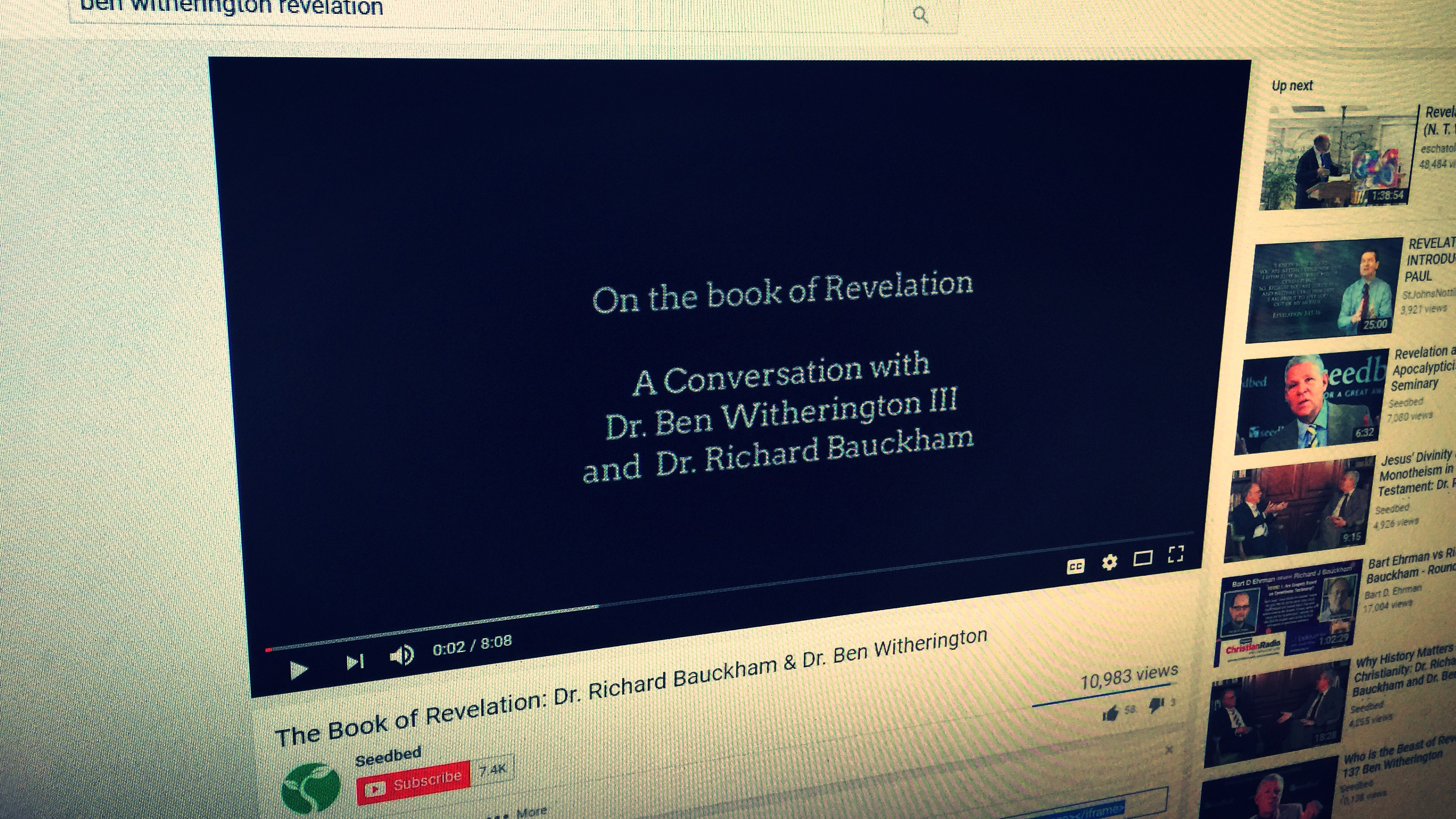 Ben Witherington on YouTube